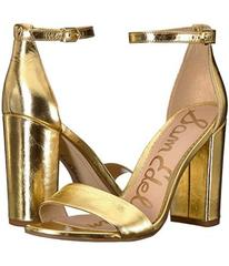 Sam Edelman Bright Gold Distressed Metallic Leathe