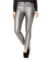 7 For All Mankind Metallic Ankle Skinny in Silver