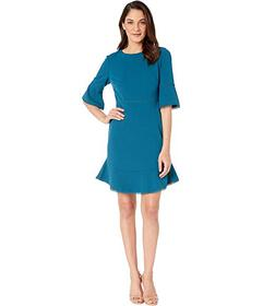 Betsey Johnson Scuba Crepe Dress with Trim Detail