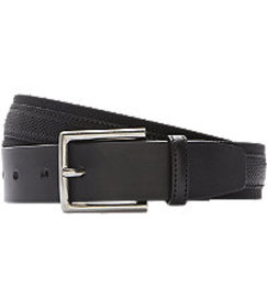 Jos. A. Bank Leather Overlay Nylon Belt CLEARANCE