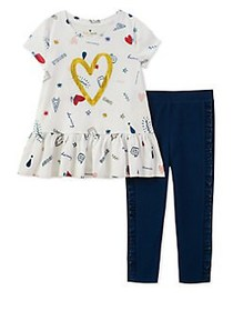 Kate Spade New York Little Girl's Two-Piece Doodle