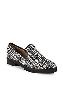 Karl Lagerfeld Paris Classic Textured Loafers BLAC