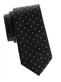 Versace Collection Dotted Silk Tie BLACK