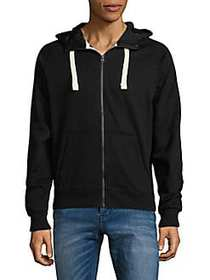 G-Star RAW Full Zip Hooded Sweatshirt BLACK