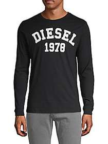 Diesel Logo Cotton Top BLACK