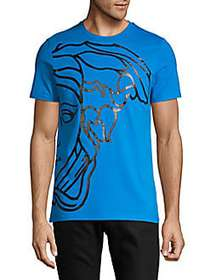 Versace Collection Graphic Cotton Tee LIGHT BLUE