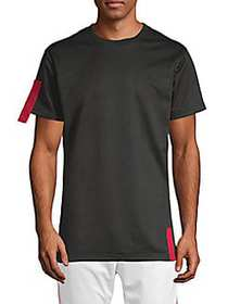American Stitch Short-Sleeve Crew Tee BLACK RED