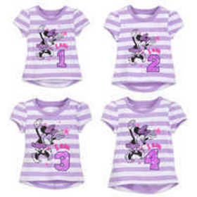Minnie Mouse Birthday Tee for Girls