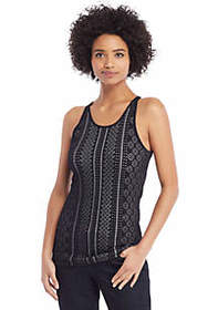 Double Face Jacquard Sweater Tank