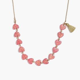 Girls' heart and tassel necklace