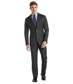 Traveler Collection Slim Fit Plaid Suit CLEARANCE