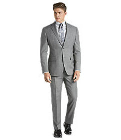 Traveler Collection Tailored Fit Sharkskin Windowp