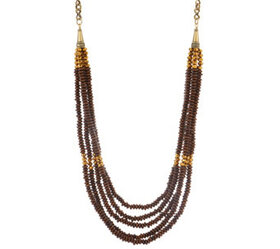 "Joan Rivers Layered Wooden Bead 38"" Necklace w/ 3"""