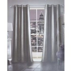 BEBE Set of 2 Faux Leather Grommet Top Curtains- 5
