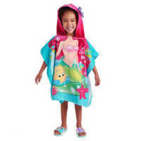 Ariel and Flounder Hooded Towel for Kids