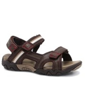 Boys Wide Width Leather Active Sandals