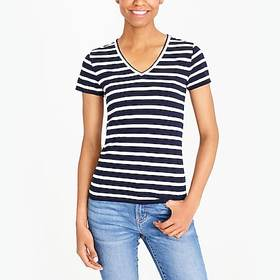 J. Crew Factory factory womens Striped V-neck stud