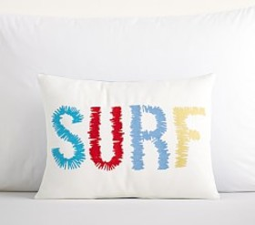Embroidered Surf Pillow