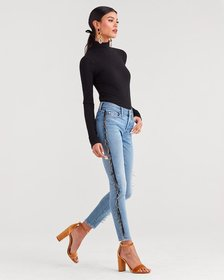Luxe Vintage Ankle Skinny in Flora