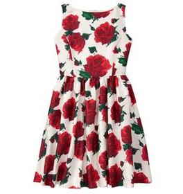 Mom Rose Print Dress