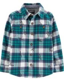Baby Boy Button-Front Flannel Shirt