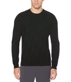 Perry Ellis Textured Pattern Sweater