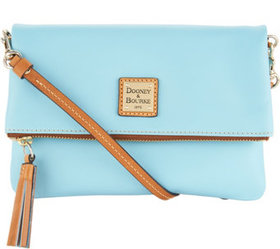 """""""As Is"""" Dooney & Bourke Smooth Leather Foldover Cr"""