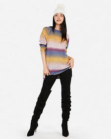 ombre space dye oversized tunic sweater
