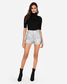 super high waisted sequin shorts