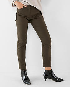 mid rise ankle curve pant
