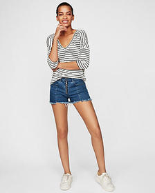 express one eleven striped london tee