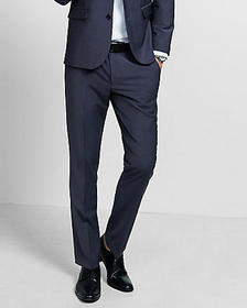extra slim navy blue performance stretch wool-blen