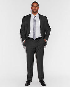 classic navy performance stretch wool-blend suit p