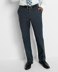 relaxed stretch cotton oxford dress pant
