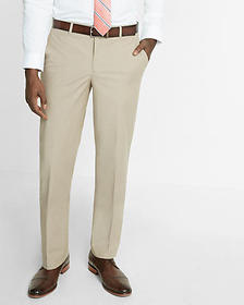 relaxed chambray stretch dress pant
