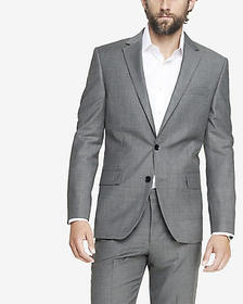 classic micro twill gray suit jacket