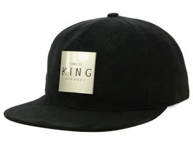 King Apparel Inscript Suede Snapback Cap