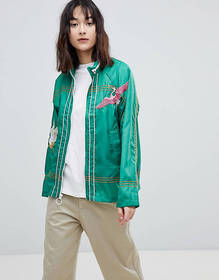 ASOS Embroidered Rain Jacket