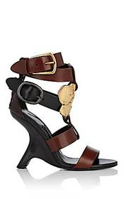Tom Ford Sculpted-Heel Leather Sandals