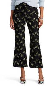 Erdem Eda Fil Coupé Crop Flared Trousers