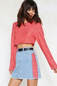 Rise Above Knit Cropped Sweater