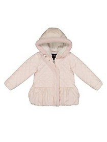 Jessica Simpson Little Girl's Quilted Faux Fur Puf