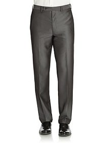 Calvin Klein Slim-Fit Flat-Front Dress Pants GREY