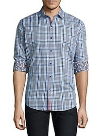 Robert Graham Plaid Cotton Casual Button-Down Shir
