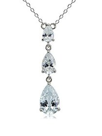 Lord & Taylor Cubic Zirconia and Sterling Silver T