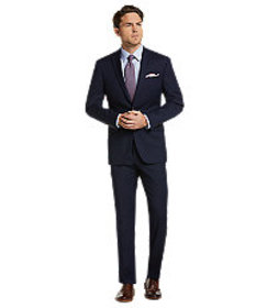 1905 Collection Slim Fit Windowpane Suit - Big & T