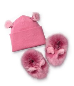 UGG UGG® Girl's Pinkipuff I Crib Shoe Set