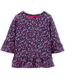 Baby Girl Bell Sleeve Floral Top