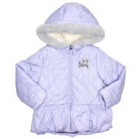 Toddler Girls Quilted Peplum Jacket w/ Faux Fur Tr