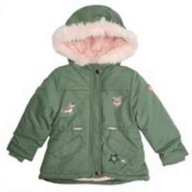 Toddler Girls Hooded Patch Puffer Coat
